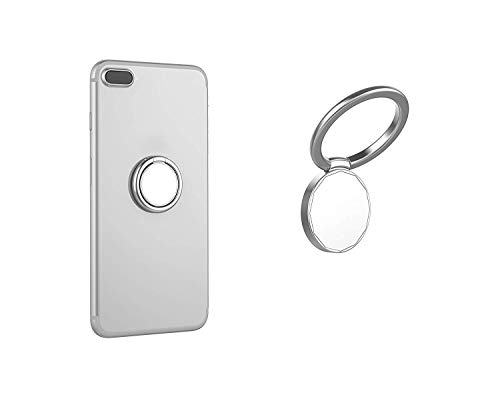 Mirror Phone Ring Holder,Universal Cell Phone Ring Grip Stand for Magnetic Car Mount Holder,360°Rotation Finger Ring Kickstand for iPhone,Samsung and Almost All Phones(Silver)