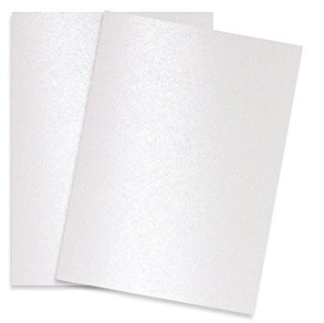 Shimmer Pure White Pearl 8-1/2-x-11 32T Lightweight Multi-use Paper 200-pk - PaperPapers 2pBasics 118 GSM (32/80lb Text) Letter Size Everyday Metallic Paper for Professionals, Designers, and Crafters ()
