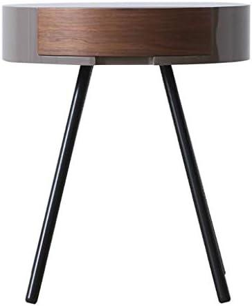 2020 Nieuw MBZL bijzettafel, koffietafel, ronde bijzettafel, bijzettafel, van hout, nachtkastje met schuifladen, Scandinavische stijl, slaapkamermeubel  icuHo4f