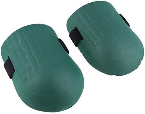 膝パッド フォーム 仕事 園芸 調節可能 防水 自動車修理 通気性 - ダークグリーン