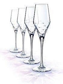 cristal d 39 arques paris by night champagne flute 22 cl set of 4 clear kitchen. Black Bedroom Furniture Sets. Home Design Ideas