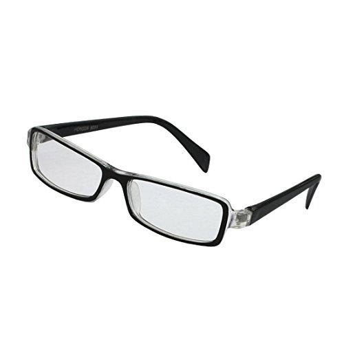 SODIAL(R) Kids Plastic Full Rim Rectangle Lens Plain Eyeglasses Plano Glasses Black - Eyeglasses Rims