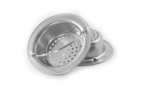 Youniverseonline - 2PCS Kitchen Sink 3.5 in. Strainer, Platinum Stainless Steel Sink (3.5 Drain Strainer)