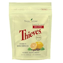 Thieves Hard Lozenges 30 ct by Young Living Essential Oils (Best Essential Oils For Cough And Sore Throat)
