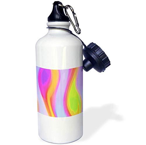 3dRose RVig - Generative Artworks - Color Fire - Purple, Orange, Green - 21 oz Sports Water Bottle (wb_295181_1) by 3dRose