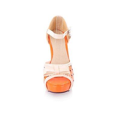 KYDJ @ Mujer-Tacón Stiletto Plataforma-PlataformaVestido Informal-Semicuero-Negro Beige Naranja Black