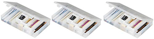 ArtBin Infinite Divider System, IDS Box with 6 Dividers, Clear Storage Container, 600IDS (Тhree Pаck) ()