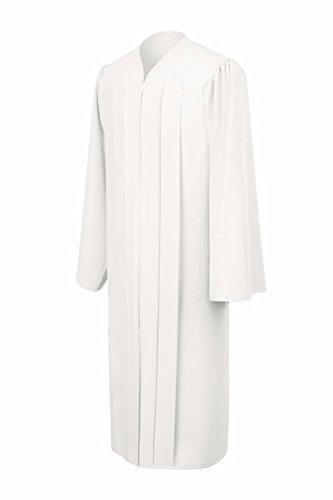 Matte White Choir Robe/White Confirmation Robe