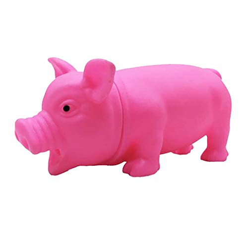 Hisoul Screaming Pig Toy, Cute Shrilling Pig Squeaky Rubber Pig Toy Funny Squeeze Relax Toy, Best Interaction Gifts for Boys and Girls (♥ Pink) ()
