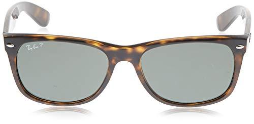 Ray-Ban RB2132 New Wayfarer Polarized Sunglasses, Tortoise/Polarized Green, 58 mm