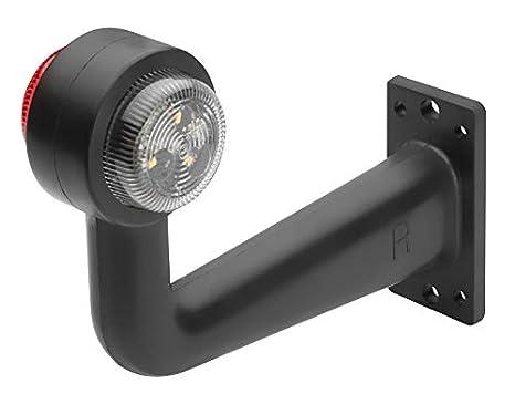 links LED Begrenzungsleuchte Umrissleuchte LINKS ECE T/ÜV 12V 24V 17cm Positionsleuchte mit P2G-Flachkabel