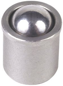 M8 x 0.354'' Force = 1.35 lb - 2.70 lb Stainless Steel No Flange Press Fit Ball Plunger, Pack of 10