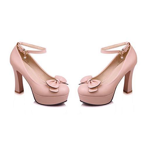 Compensées DGU00502 36 Sandales Rose AN 5 Femme Rose qPzBB8F