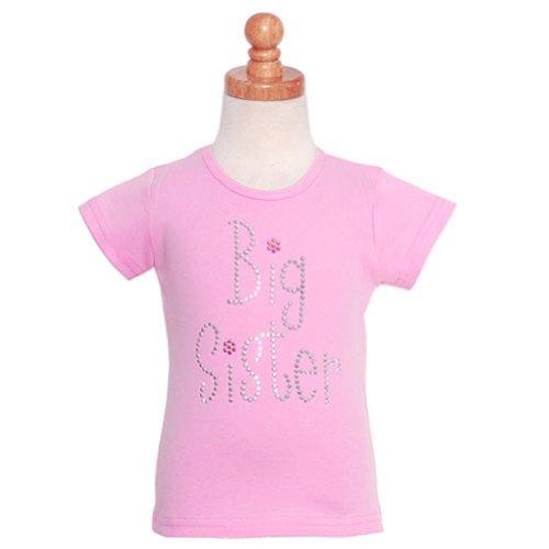 Daisy Creek Little Girls Pink Big Sister Short Sleeve T Shirt Top 6