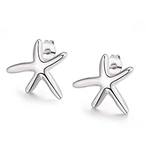 Starfish Pearl Fashion Personality Five - pointed Star Earrings