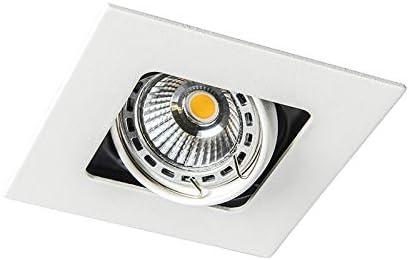 Artemis//Innenbeleuchtung//Wohnzimmerlampe//Schlafzimmer//K/üche Metall Quadratisch LED geeignet GU10 Max 1 x 50 Watt QAZQA Design//Modern Quadratischer Einbauspot schwarz schwenk und neigbar