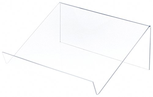 (Plymor Brand Clear Acrylic Slightly Elevated Book Display Stand, 12