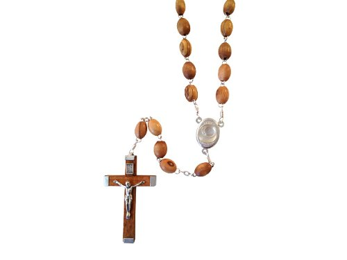 Holy Land Imports Olive Wood Rosary With Water from the River - Certificates Ect Gift