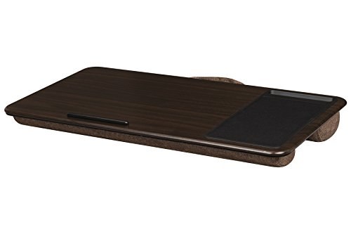 Lapgear Home Office Lap Desk Espresso Wood Fits Up To 17