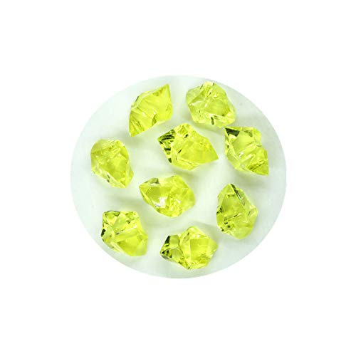 Briliant Shop Acrylic Color Faux Ice Rock Crystals Treasure Gems for Table Scatters, Vase Fillers, Fish Tank, Party Decoration, Arts & Crafts (Yellow) ()