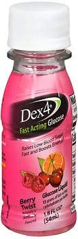 Dex4 Fast Acting Glucose Liquid Berry Twist, 6-1.8oz, Pack of 4