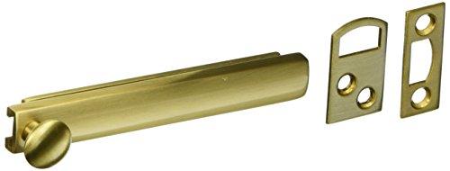 - Baldwin 0322040 Surface Bolt, Satin Brass