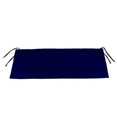Plow & Hearth Classic Polyester Outdoor Swing/Bench Cushion, 47'' x 16'' x 3'' - Midnight Navy