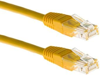 2 Pack 50 Ft Cat6 UTP Ethernet Network Non Booted Cable Black Patch Cables