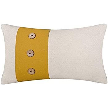 Amazon.com: LowProfile Home Decor fundas de cojín amarillo ...