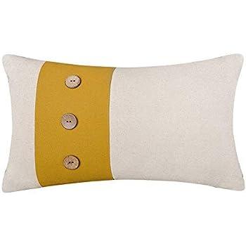 Amazon.com: King Rose Yellow 8 Buttons Linen Blend ...