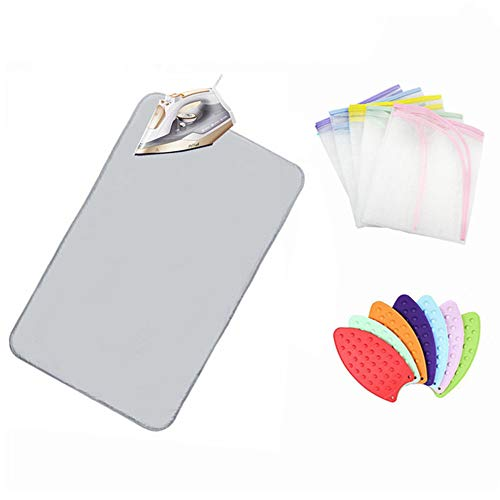 Nnty Gluck Upgraded Thick Ironing Blanket,Portable Ironing Mat with Silicone Pad,and Press Ironing Cloth Mesh,Heat Resistant Ironing Pad Cover for Washer,Dryer,Table Top,Countertop,Iron Anywhere by Nnty Gluck (Image #6)