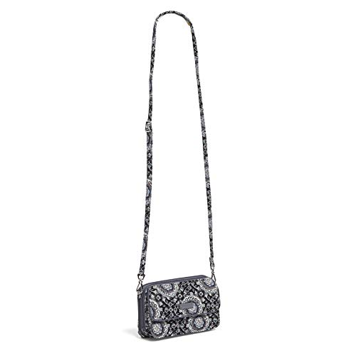 Signature Charcoal Cotton One Crossbody Iconic in Vera Bradley All Medallion RFID z6Axn0Fq