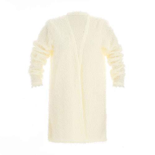 Del Signore S Cardigan Beige Cappotto Casuale Maglia Outwear Delle Manica Colore Toogoo In Caldo Lunga Nero Di Rivestimento Allentato Solido FgqU81X