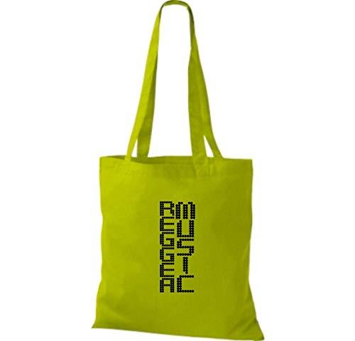 Tela Para Shirtinstyle Green Lime Algodón Bolso De Mujer EIIB4