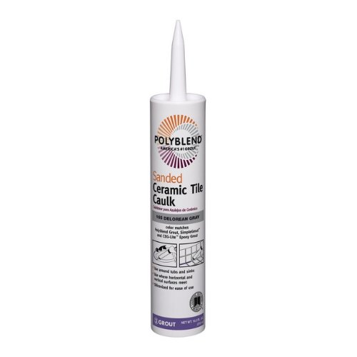 Polyblend-Nonsand PC16510S-6 10.5 Oz Delorean Gray Ceramic Tile Caulk by Custom Building Products