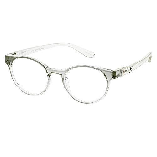 Bunny Eyez Sophie Wearable, Tilt-able, Flip-able Women's Reading Glasses - Clear Diamond Crystal (+3.00)