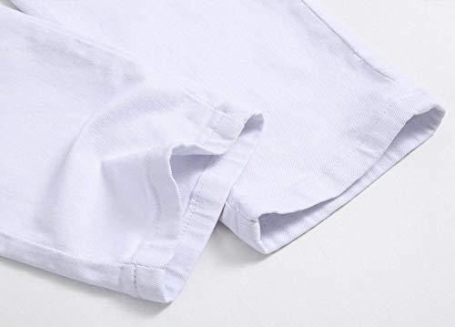 Streetwear Da Clubwear Marca Jeans Stile Uomo Mode De502white Slim Pantaloni Di Hipster Motociclista Stretch Bolawoo 0Fq1wBxw