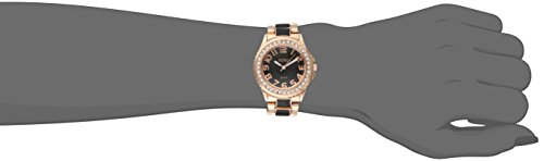 XOXO Women's XO5473 Rose Gold Tone and Black Epoxy Bracelet Watch