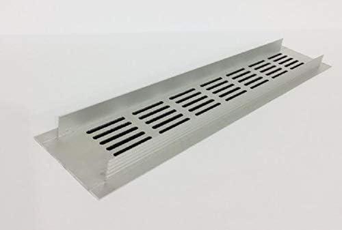 Rejilla de ventilaci/ón color blanco aluminio 100/x 400/mm ventilaci/ón de aluminio Rejilla rejilla Muebles rejilla ventilaci/ón ra1040