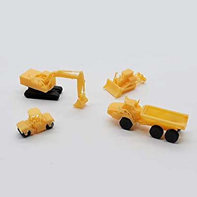 Outland Models Railway Miniature Heavy Construction Vehicle Set Z Scale 1:220: Toys & Games