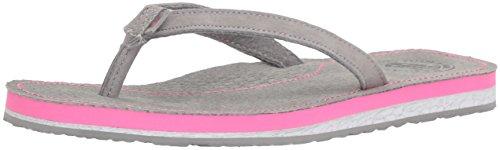 - New Balance Women's Classic Thong Flip-Flop, Grey/Pink, 6 B US