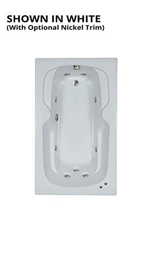 Watertech - 6036bw White Whirlpool Bath (60 in. x 36 - Jetted Drop Inch 36 In