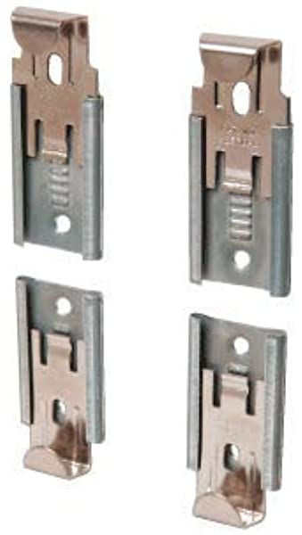 Frameless Certificate Notice Board Mirror Glass Wall Hanging Fixing Clips Kit