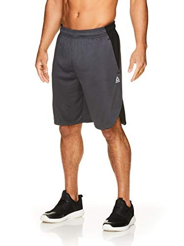 - Reebok Men's Drawstring Shorts - Athletic Running & Workout Short w/Pockets - Push Set Ebony Grey, Medium