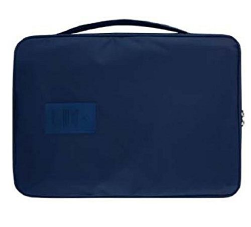 Cheap4uk Portable Waterproof Business Travel Shirt and Tie Packing Bag Organiser Storage Case(Navy Blue)