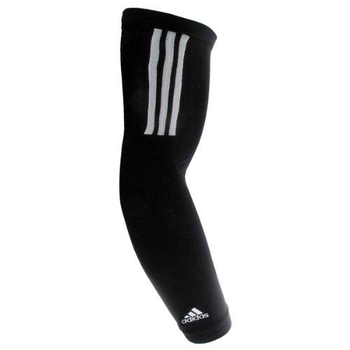 adidas Compression Arm Sleeve, Black/White, Large/X-Large