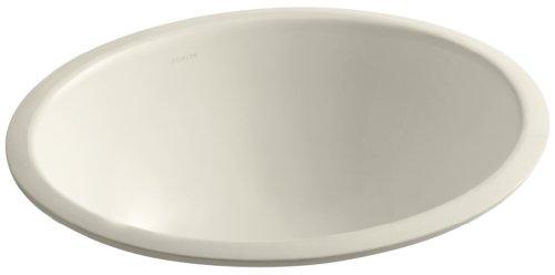 Caxton Almond - KOHLER K-2205-G-47 Caxton Undercounter Bathroom Sink with Glazed Underside, 17