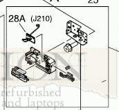 Hp Plastic Base (HP RM1-2678-000CN Right rear base assembly - Right side guide for paper tray - Rear black plastic printer foot attaches to this piece)