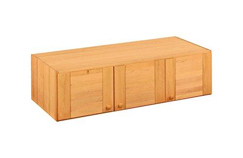 BioKinder 22637 Kai Schrankaufsatz 3 türig aus Massivholz Erle 150 x 40 cm
