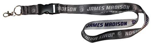 (Wincraft NCAA James Madison JMU Dukes Premium Lanyard Key Chain, Charcoal Edition)